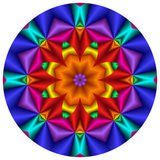 Rainbow Mandala Royalty Free Stock Image