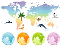 Free Rainbow Map Earth Royalty Free Stock Image - 2844196
