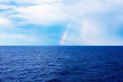 Rainbow in mare Fotografia Stock Libera da Diritti
