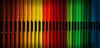 Rainbow markers Royalty Free Stock Images