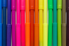 rainbow markers Stock Photography