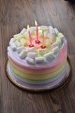 Rainbow marshmallow cake Royalty Free Stock Image