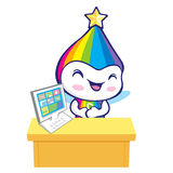 The Rainbow Mascot is doing the presentation. Dream of Fairy Cha Stock Images