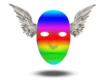 Rainbow mask Stock Image