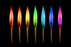 Rainbow matches stock images