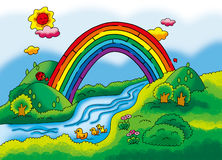Rainbow maze Royalty Free Stock Photos