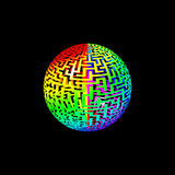 Rainbow Maze Ball Stock Photography