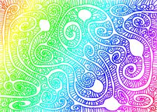 Rainbow Maze Wallpaper Background. Colorful rainbow maze wallpaper background with resting ball chambers and intricate patterns Stock Photos