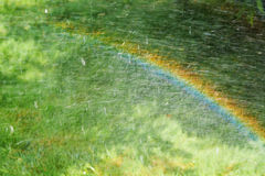 Rainbow on the meadow Royalty Free Stock Photography