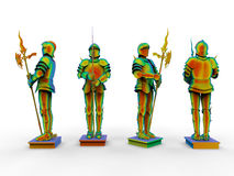 Rainbow medieval knight Royalty Free Stock Photo