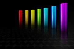 Rainbow metal columns Royalty Free Stock Images