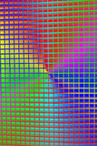 Rainbow metal grid, disco, Stock Photos