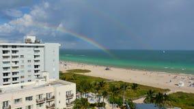 Rainbow in Miami Beach stock footage