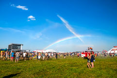 Rainbow in Mighty Sounds Festival Royalty Free Stock Photos
