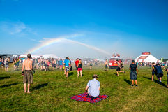 Rainbow in Mighty Sounds Festival Royalty Free Stock Photography