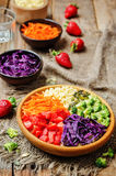 Rainbow millet vegetable salad Royalty Free Stock Photography