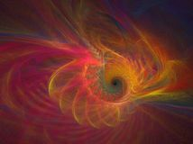 Rainbow mist. Abstract fractal background created with apophysis, this is a large file showing many details when viewed at full size Royalty Free Stock Image