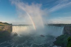 rainbow in the mist of Niagara Fall Royalty Free Stock Image