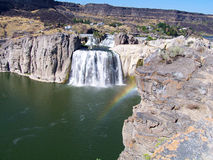 Rainbow in the mist of a waterfall at Shoshone Falls in Idaho Stock Photography