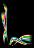 Rainbow modern corner Royalty Free Stock Image