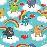 Rainbow Monster Party. Royalty Free Stock Images