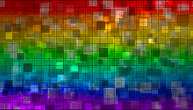 Rainbow mosaic Stock Images