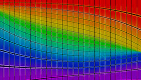 Rainbow mosaic Royalty Free Stock Images