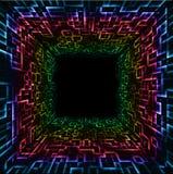 Rainbow mosaic Stock Images