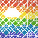 Rainbow mosaic background Royalty Free Stock Photography