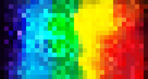 Rainbow mosaic background Royalty Free Stock Photos