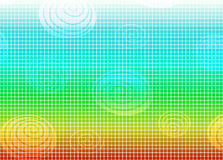 Rainbow mosaic background Stock Image