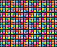 Rainbow mosaic buttons black stock illustration
