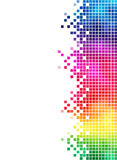 Rainbow mosaic side element Stock Photography