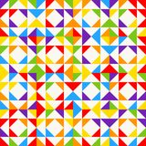 Rainbow mosaic tiles, abstract geometric background, seamless vector pattern. Colorful geometric background with triangles. Minimal background, rainbow colored Royalty Free Stock Images
