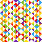 Rainbow mosaic tiles, abstract geometric background, seamless vector pattern. Colorful geometric background with triangles. Minimal background, rainbow colored Royalty Free Stock Photo