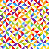 Rainbow mosaic tiles, abstract geometric background, seamless vector pattern. Colorful geometric background with triangles. Minimal background, rainbow colored Royalty Free Stock Image