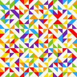 Rainbow mosaic tiles, abstract geometric background, seamless vector pattern. Colorful geometric background with triangles. Minimal background, rainbow colored Stock Photography