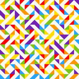 Rainbow mosaic tiles, abstract geometric background, seamless vector pattern. Colorful geometric background with triangles. Minimal background, rainbow colored Royalty Free Stock Photography