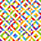 Rainbow mosaic tiles, abstract geometric background, seamless vector pattern. Colorful geometric background with triangles. Minimal background, rainbow colored Stock Images