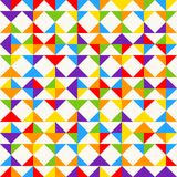 Rainbow mosaic tiles, abstract geometric background, seamless vector pattern. Colorful geometric background with triangles. Minimal background, rainbow colored Stock Photo
