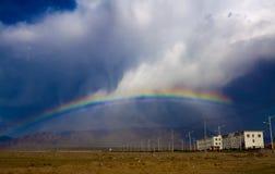 Rainbow on mountain Royalty Free Stock Photos