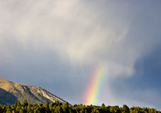 Rainbow and mountain Royalty Free Stock Images