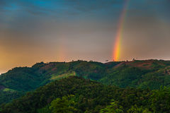 Rainbow mountain Stock Image