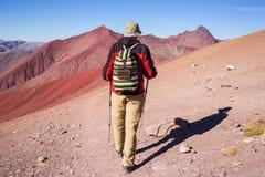 Rainbow mountain stock photo