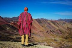 Rainbow mountain Royalty Free Stock Photos