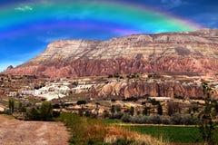 Rainbow on mountain Stock Images