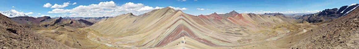 Rainbow mountain. Peru panoramic landscape nature mountains Royalty Free Stock Photo
