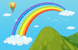 Rainbow and mountain Royalty Free Stock Photo