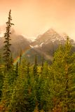 Rainbow in The Mountains Royalty Free Stock Photo