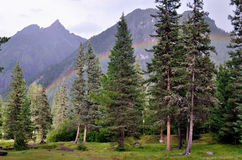 Rainbow in the mountains Royalty Free Stock Images